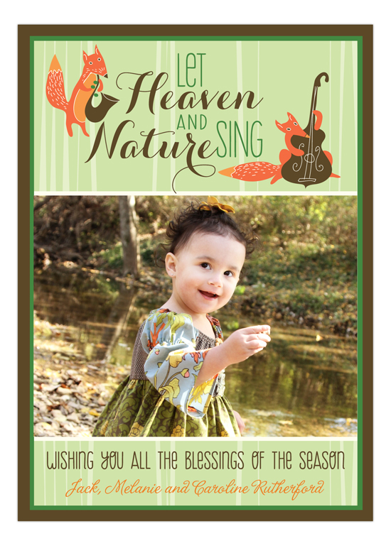 Heaven and Nature Sing Photo Card