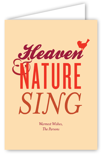 Heaven & Nature Sing Greeting Card