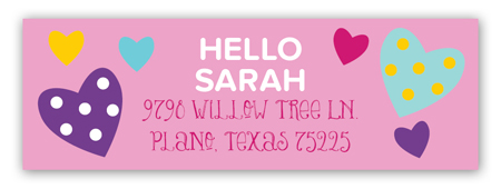 Hello Friend Address Label