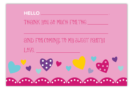 Hello Friend Flat Note Card