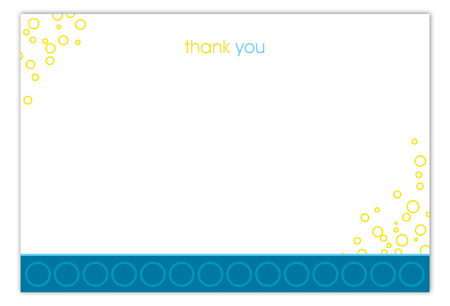 Hey Baby Blue Flat Note Card