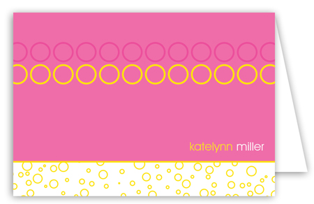 Hey Baby Pink Note Card
