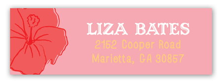 Hibiscus Bunch Address Label