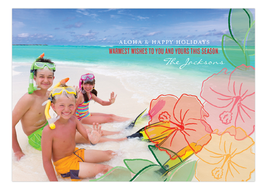 Hibiscus Holiday Photo Card