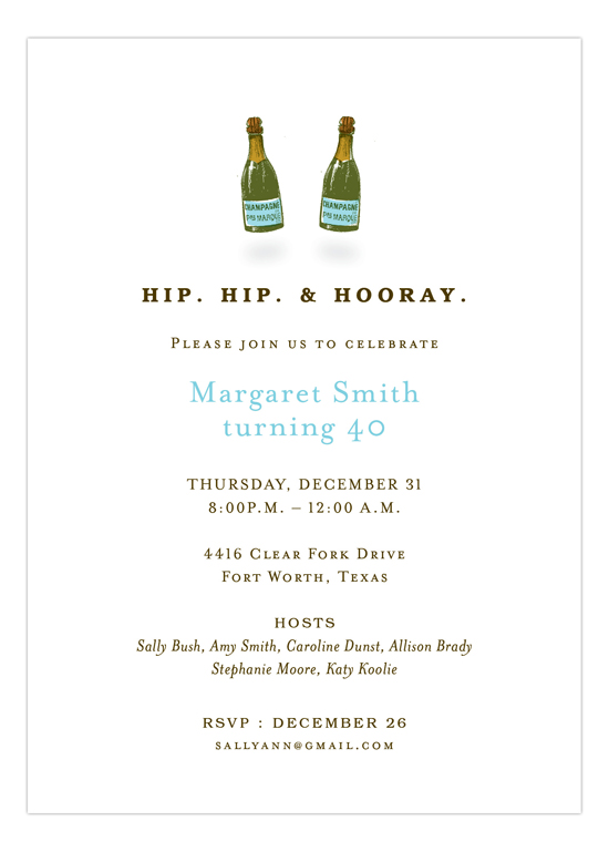 Hip Hip Hooray Invitation