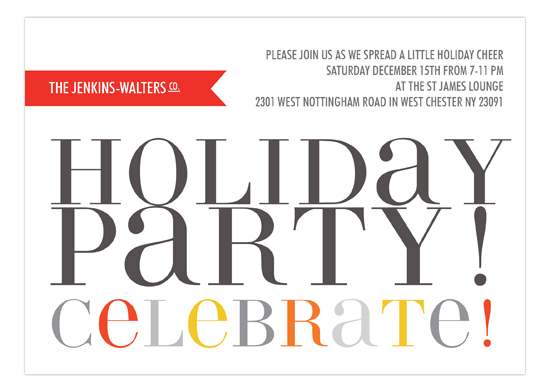 Hip Holiday Invitation