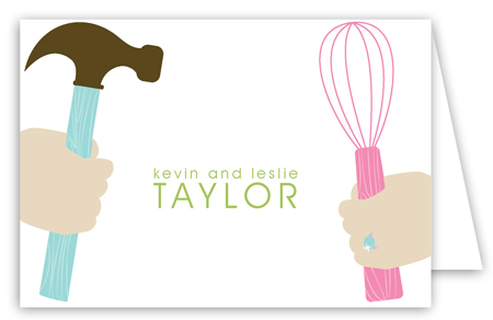 His and Hers Forever Folded Note Card