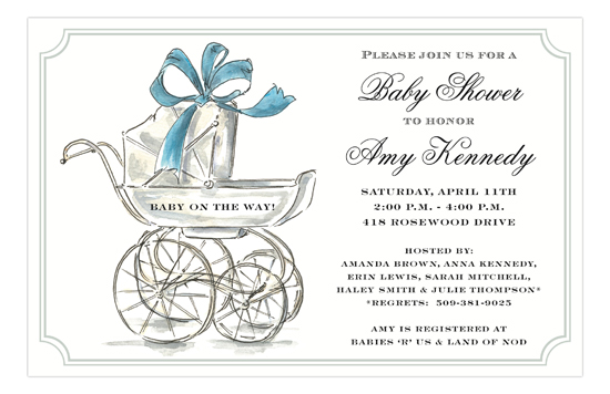His Carriage Boy Baby Shower Invites