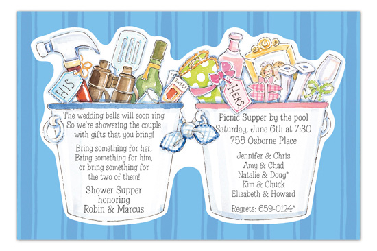 His & Hers Buckets Invitation
