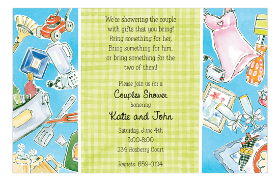 his hers couples wedding shower invitations