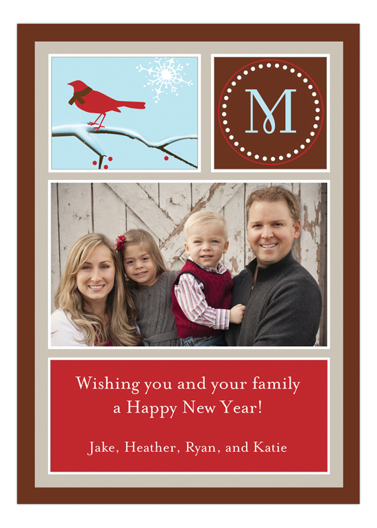 Holiday Bird Photo Card