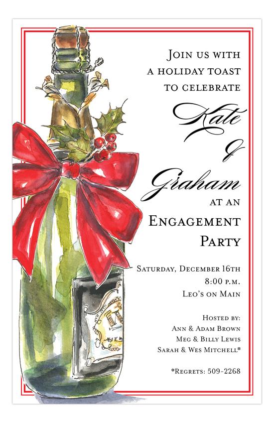 Holiday Bubbly Invitation