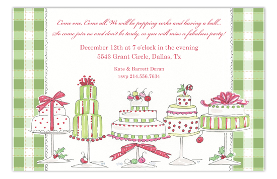 Holiday Cakes Invitation