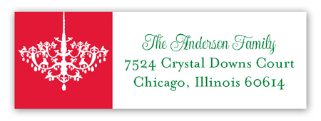 Holiday Chandelier Address Label