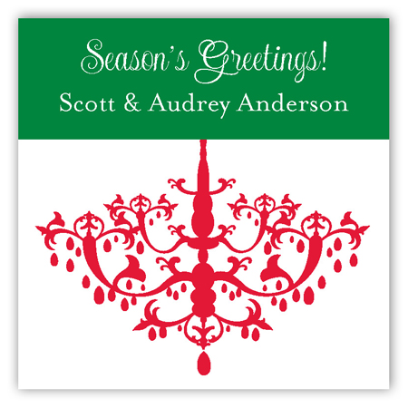 Holiday Chandelier Square Sticker