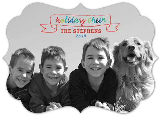 Holiday Cheer Banner Photo Card