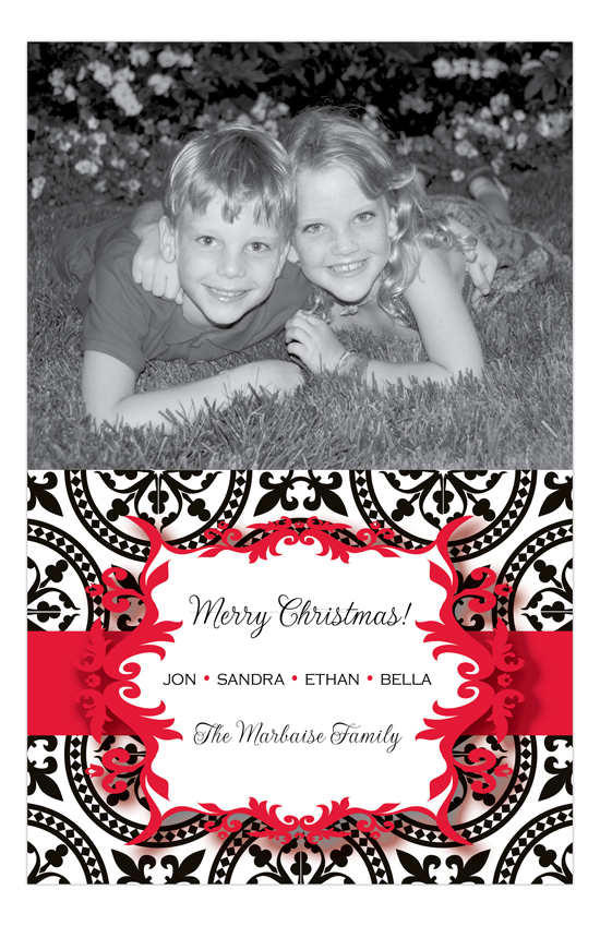 Holiday Cheers Red Photo Card