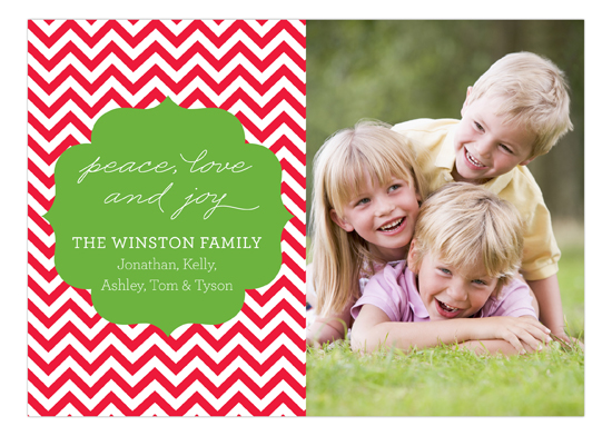 Holiday Chevron Photo Card