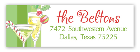 Holiday Cocktails Address Label