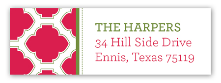 Holiday Cranberry Tile Address Label