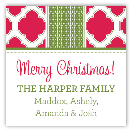 Holiday Cranberry Tile Square Sticker