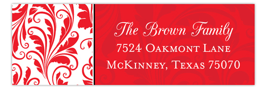Holiday Door Address Label