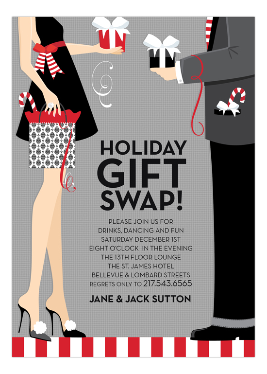 Holiday Gift Swap Invitation