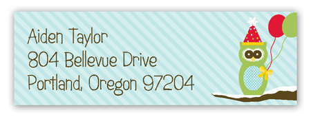 Holiday Hoot Address Label