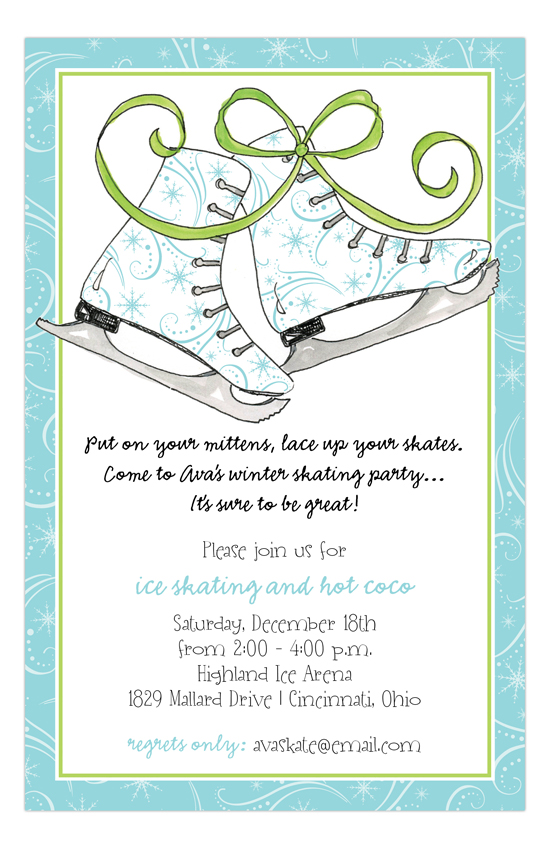 Holiday Ice Skates Invitation