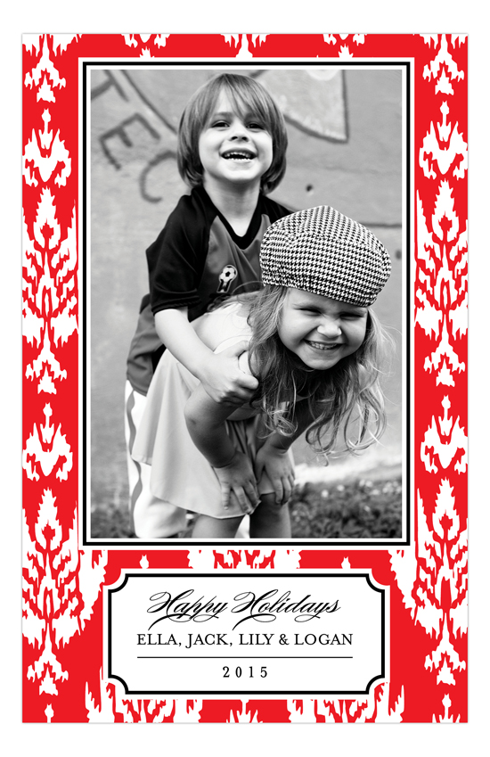 Holiday Ikat Photo Card