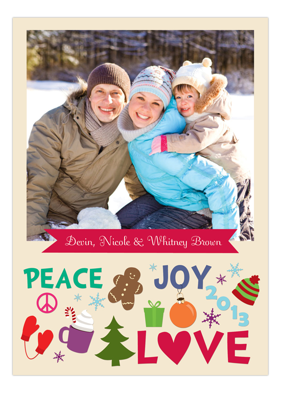 Peace, Joy, & Holiday Love Photo Card