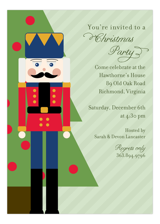 Holiday Nutcracker Invitation