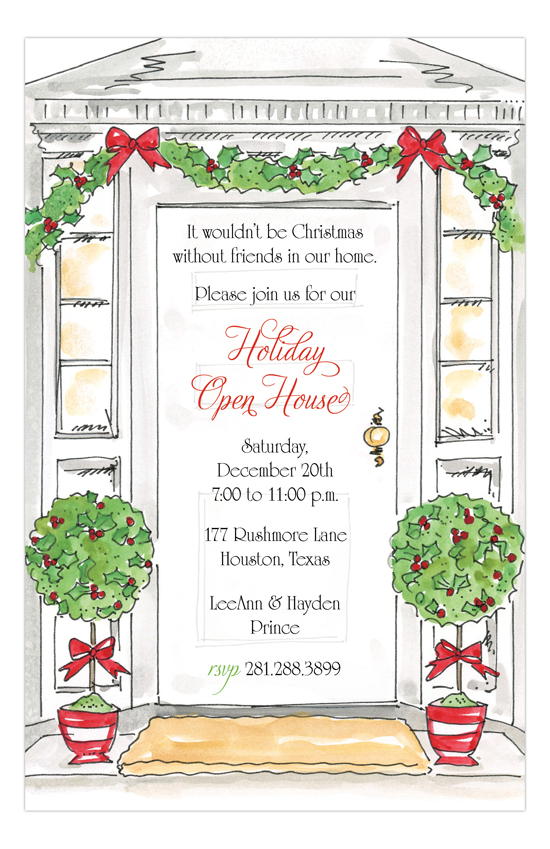 Holiday Open House Invitation | PolkaDotDesign.com