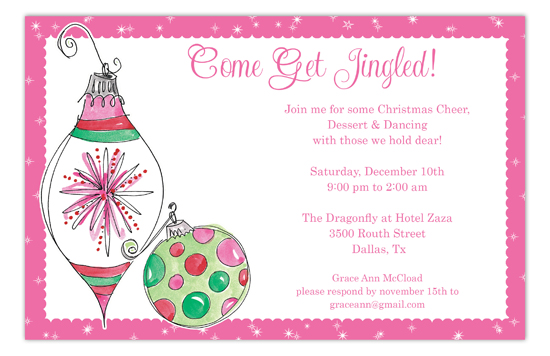 Holiday Ornaments Invitation
