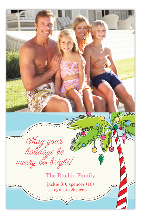 Holiday Palms Photo Card