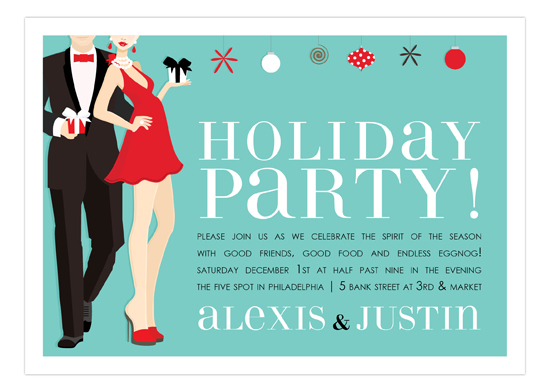 Holiday Party Couple Invitation