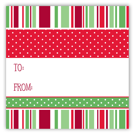 Holiday Style Traditional Square Sticker