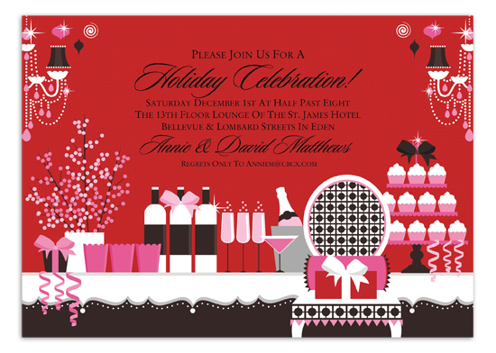 Holiday Tabletop Invitation