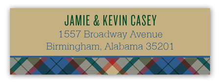 Holiday Tartan Address Label
