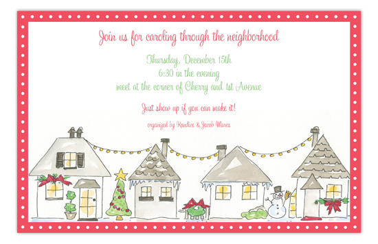 Holiday Town Invitation