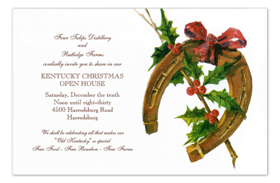 Holly and Horseshoe Invitation