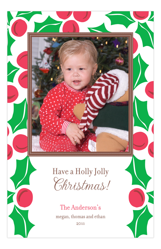 Holly Day Photo Card