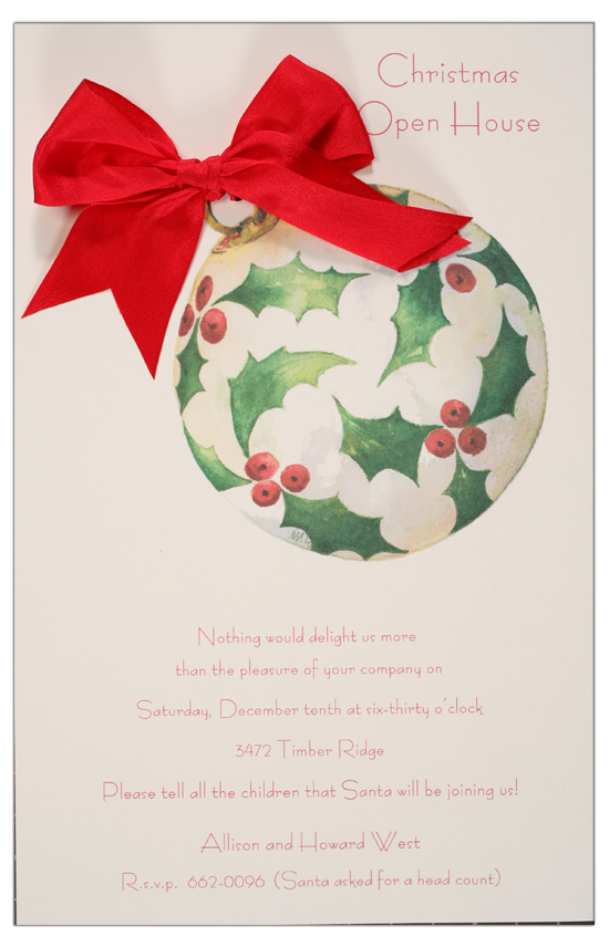 Holly Sphere Invitation