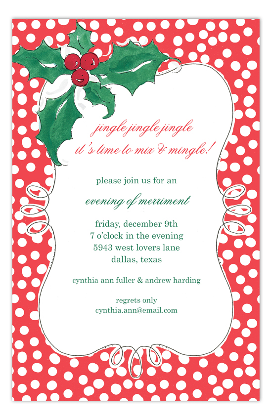 Holly Sprig Invitation