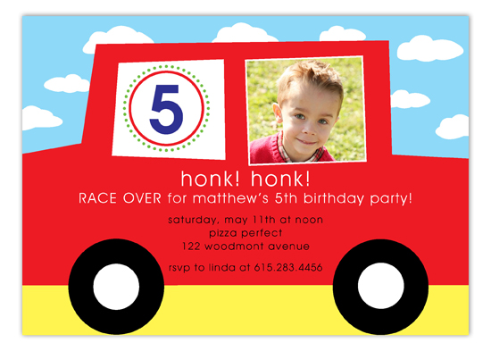 Honk Honk Photo Invitation