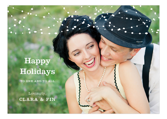 Horizontal Holiday Swag Photo Card