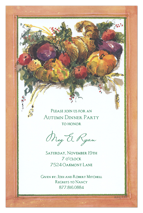 Horn of Plenty Invitation