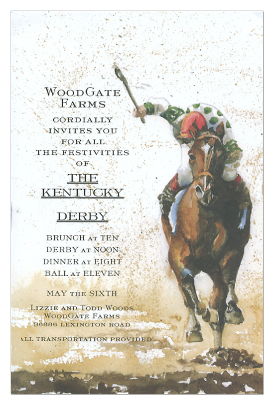 Horse Race Invitation