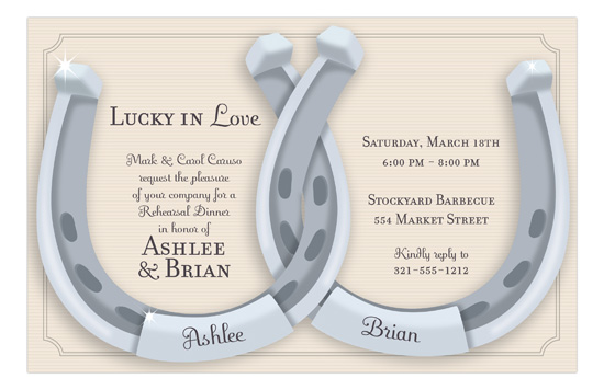 Horseshoes Invitation