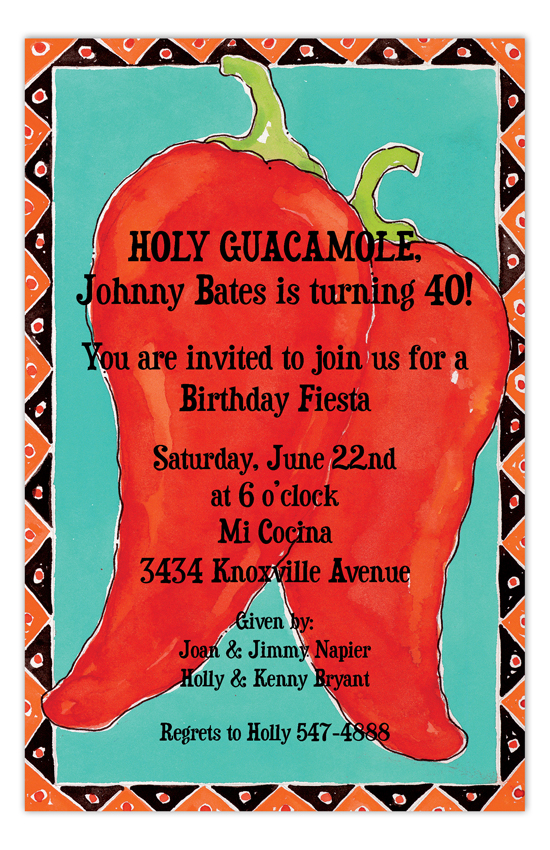 Hot Chili Pepper Pair Fiesta Invitations